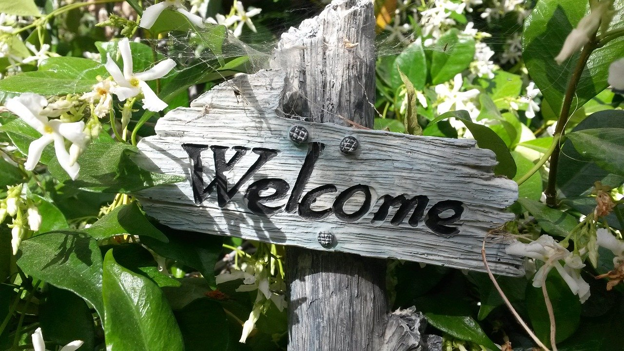 welcome sign 760358 1280